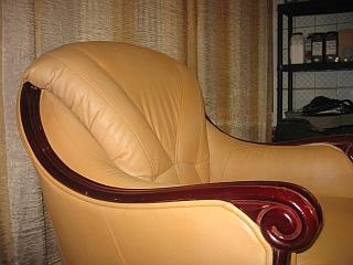 fotel skórzany po renowacji